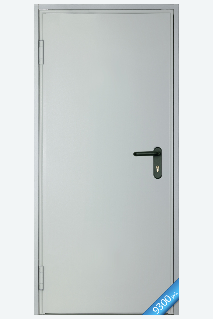 дверь противопожарная металлическая глухая однопольная дпм1